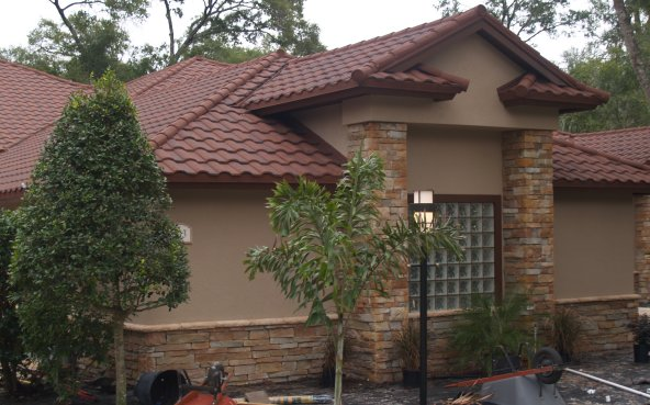 Stone Coated Steel Barrel Tile Metal Roof
